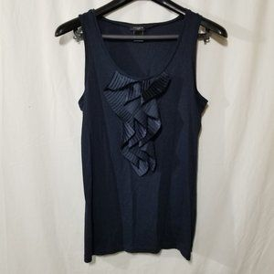Ann Taylor sleeveless top with pleated ruffles